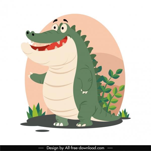 alligator painting funny cartoon sketch