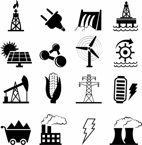 Alternative Energy options icons