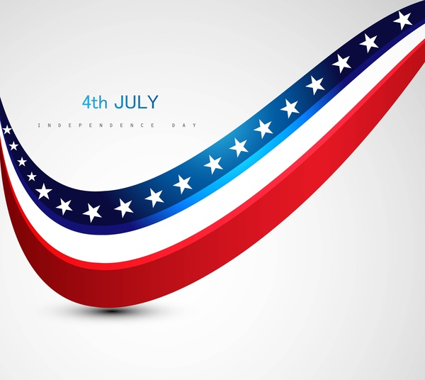 American Flag 4th July American Independence Day Free Vector In