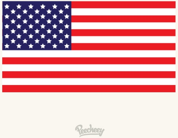 American Flag Flat Design Free Vector In Adobe Illustrator