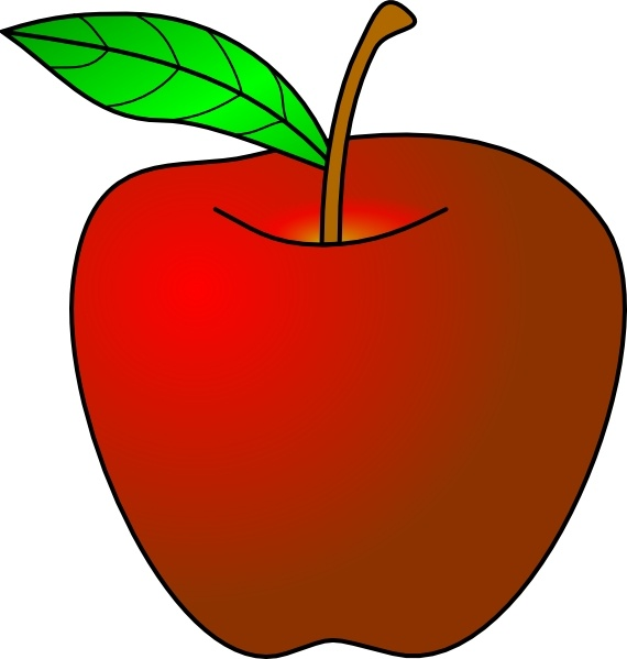 an apple clip art free vector in open office drawing svg svg