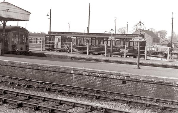 an interesting railway vignette kings lynn 1970