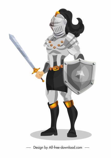 ancient knight icon metallic armor decor
