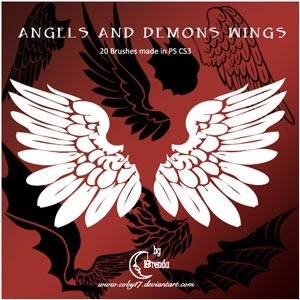 Angels And Demons Wings Brushes