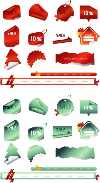 angular vector of tag stickers