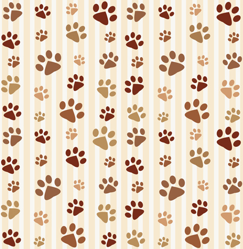 Animal Footprints Cute Pattern Vector Free Vector In Encapsulated Awesome Cute Patterns