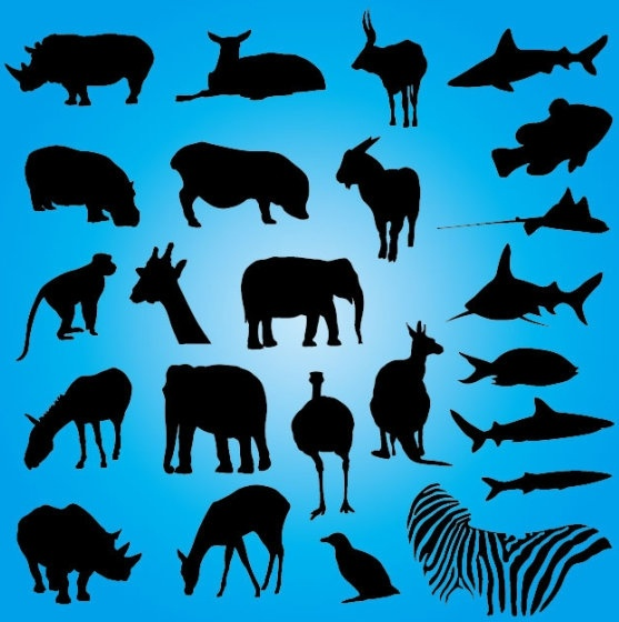 animal silhouette 01 vector