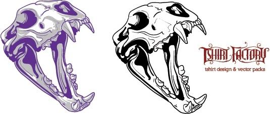 animal skull vector free vector in adobe illustrator ai ai