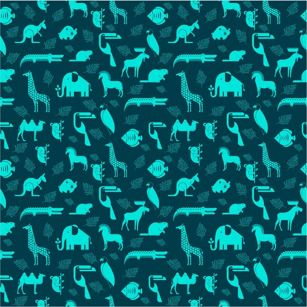 Animals Repeating Pattern Vector Illustration Free Vector In Adobe Awesome Repeat Pattern Illustrator