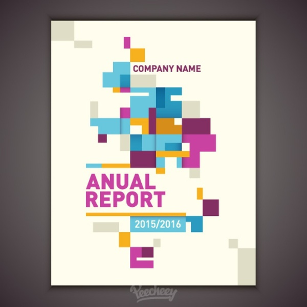 annual report cover free vector in adobe illustrator ai ai