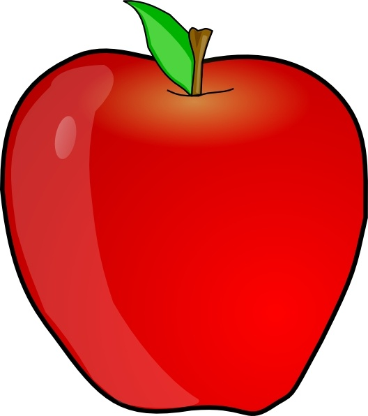 another apple clip art free vector in open office drawing Outline of Apple Shape apple outline clip art svg