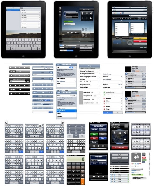 apple ipad exploded view a full range of ui design vector