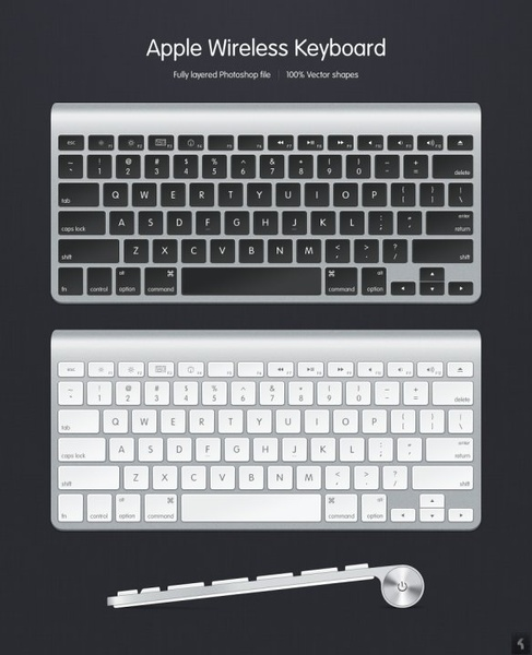 apple keyboard psd source files