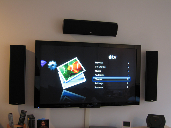 apple tv on the 50 inch pioneer plasma
