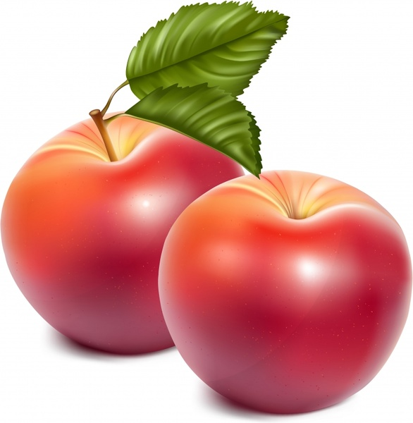 fresh apple background shiny colored 3d design
