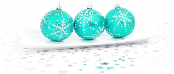 aqua bauble decoration