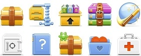 Archive Toolbar Icons icons pack