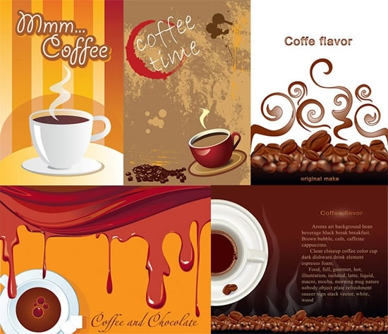 coffee advertising backgrounds classical dark cup beans decor
