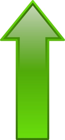Arrow-up-green clip art Free vector in Open office drawing ...
