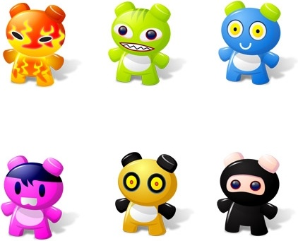 Art Toys Icons icons pack