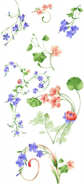 artcity handpainted fashion floral pattern psd layered 2