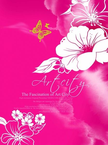 artcity handpainted flower psd layered 3