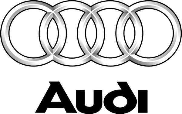 Vector Audi on water for cars