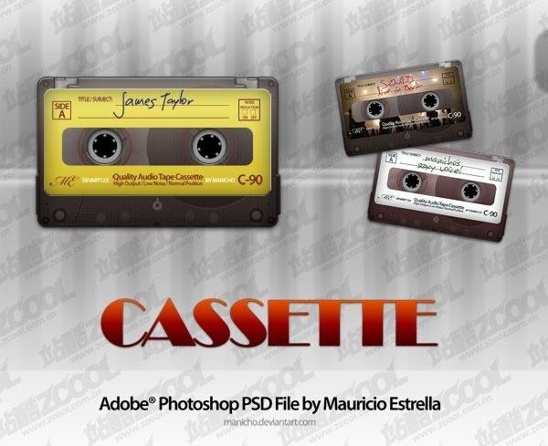 audiotape psd layered