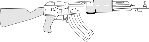automatic gun clip free vector in open office drawing