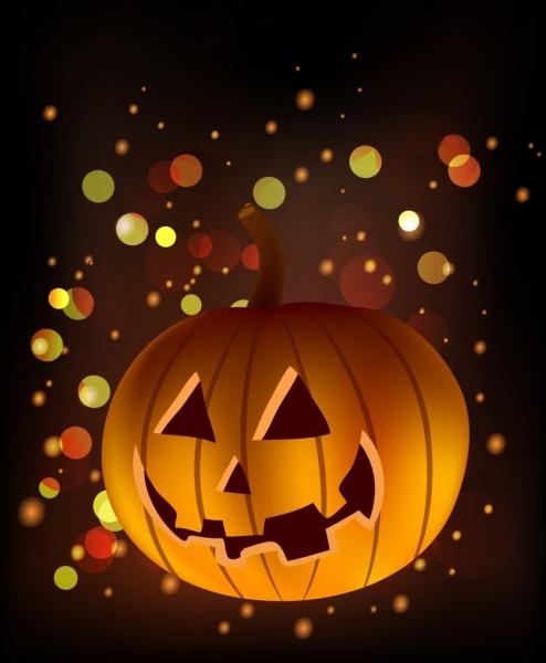 autumn background horror pumpkin icon shiny bokeh decor