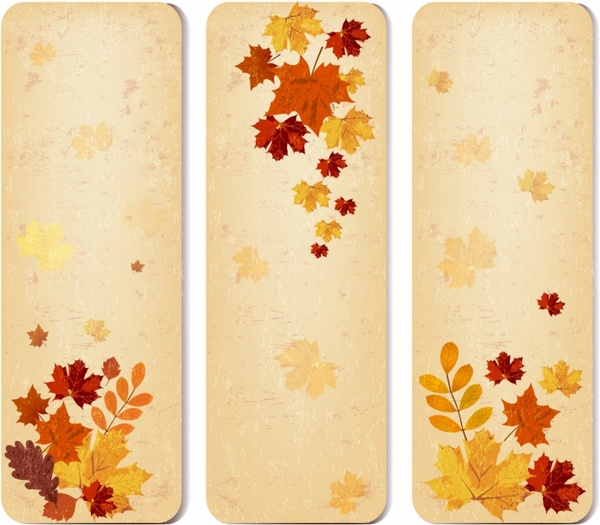 Autumn banners with leaves