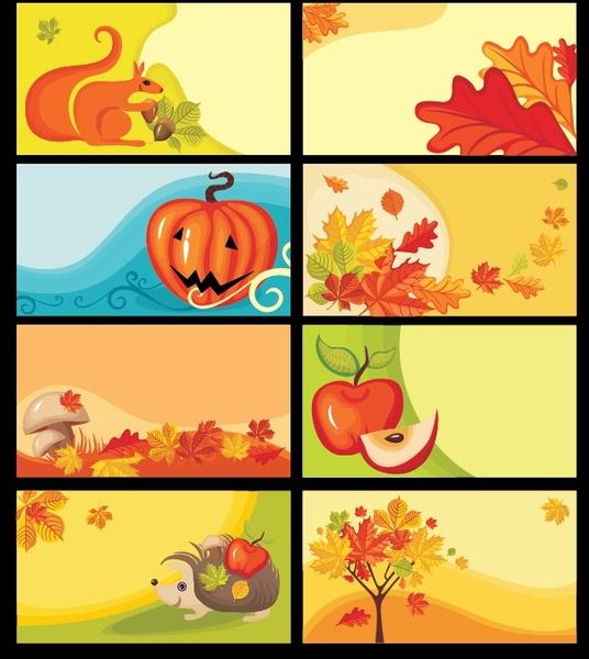 autumn background templates colorful classical design elements decor