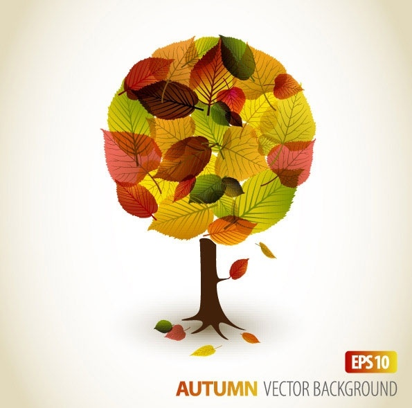 autumn leaves vector 2 graphic design