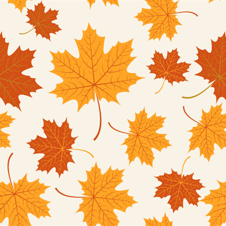 Autumn Maple Leaves Vectors Seamless Pattern Free Vector In Unique Maple Leaf Pattern