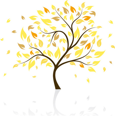 autumn of tree design vector ser
