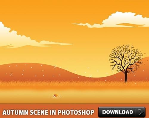 Autumn Scene in Photoshop