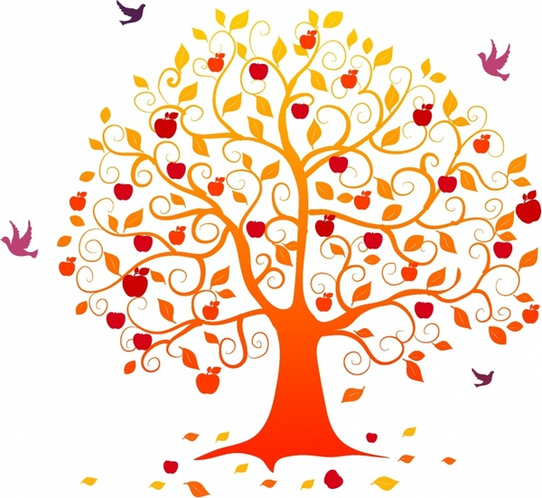 apple tree vector free vector download (5,579 free vector) for