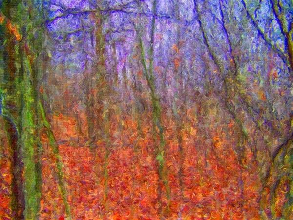 autumn woods painting
