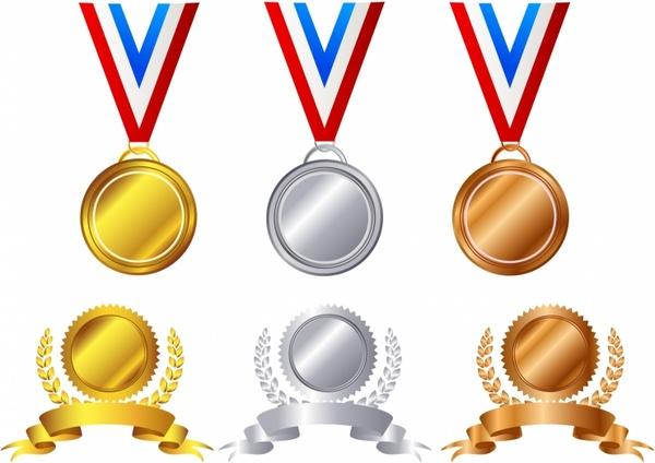 Award Medals Free Vector In Adobe Illustrator Ai