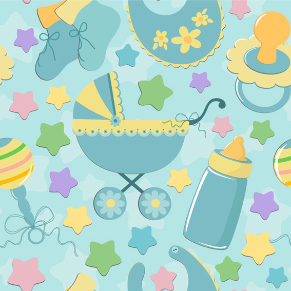 Baby boy background free vector download 50 265 free - Baby background ...