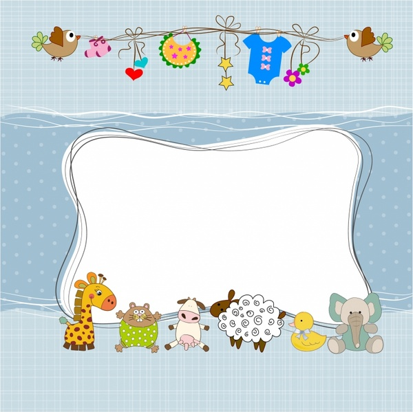 Baby Shower Frame Free Vector In Adobe Illustrator Ai Ai