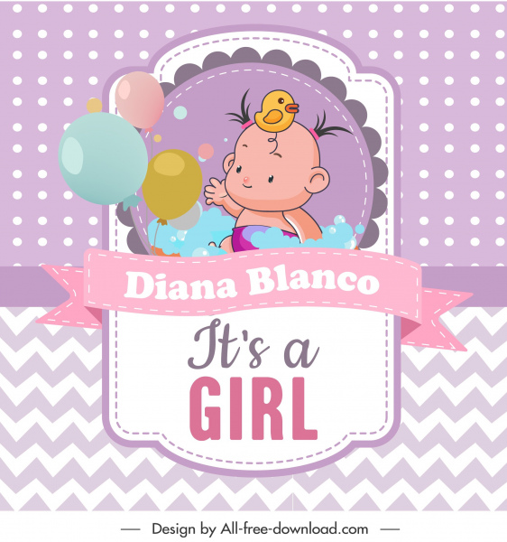baby shower template cute baby sketch colorful design