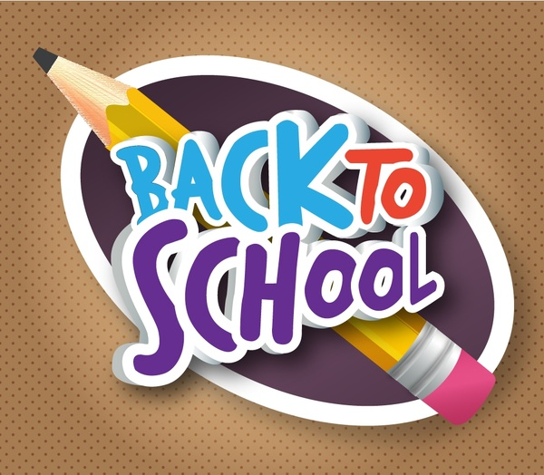 back to school banner design with pencil free vector in adobe