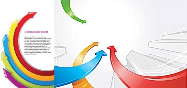 background color arrow vector