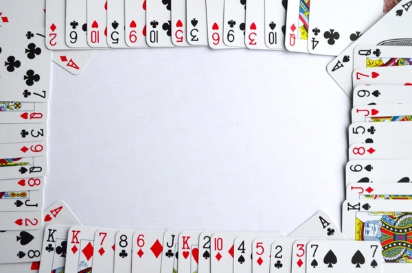 background of playing cards
