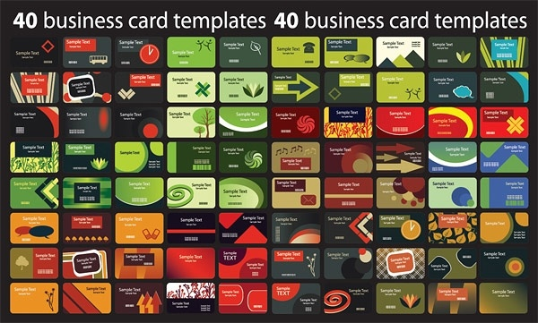 Background section 80 card template vector 2 Free vector in