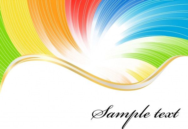 decorative background colorful curved lines motion decor