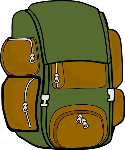 Backpack Green Brown Clip Art Free Vector In Open Office