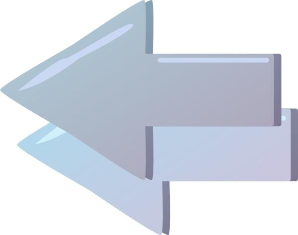 Backword Double Arrow clip art