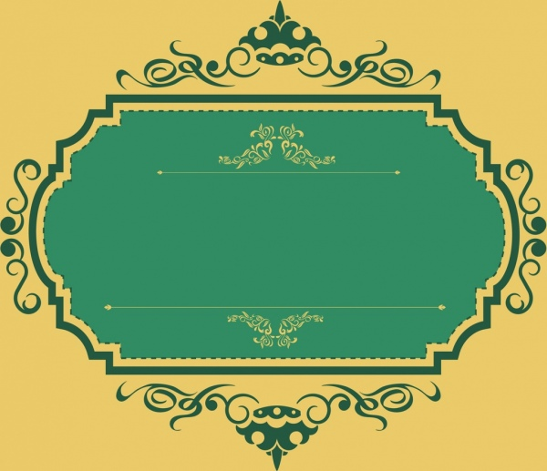 badge frame template classical curved design